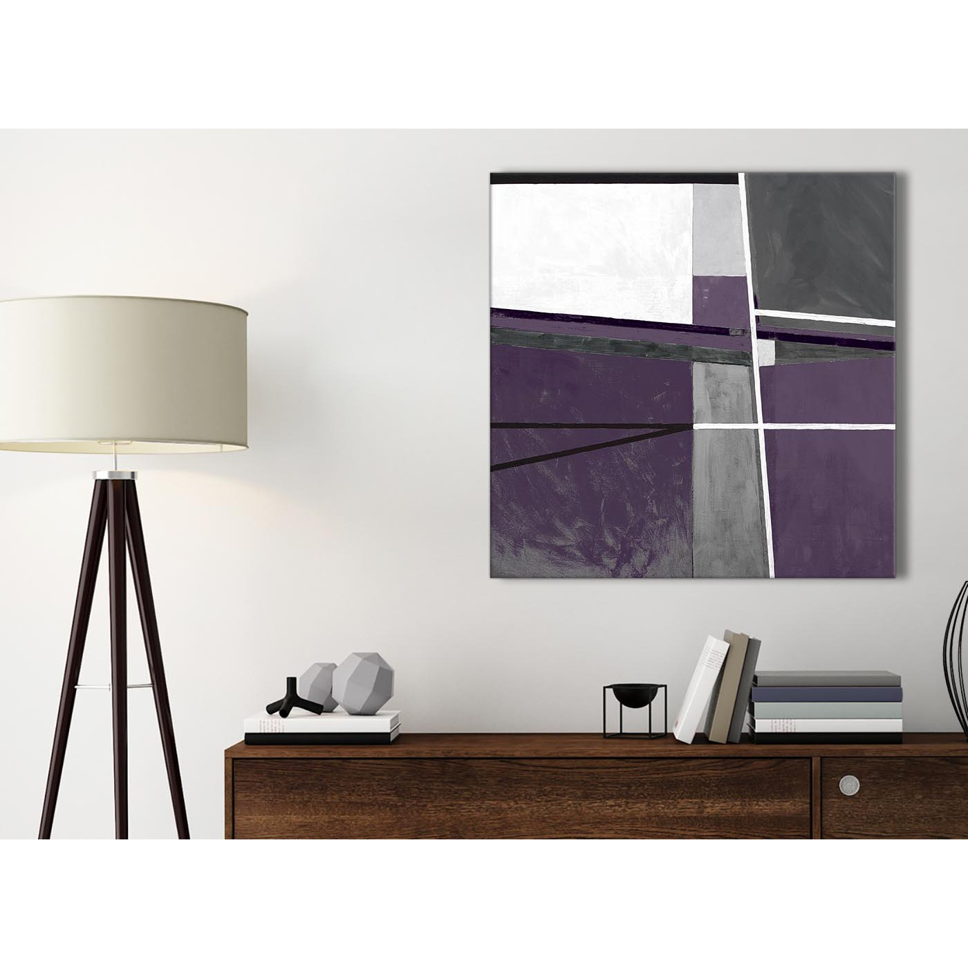 Aubergine grey painting bathroom canvas pictures accessories abstract 1s392s 49cm square print for Aubergine bathroom accessories