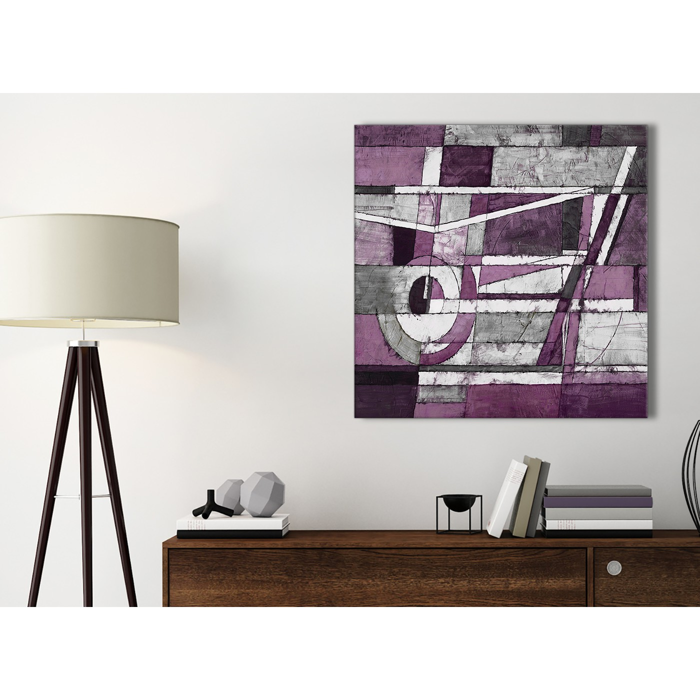 Aubergine Grey White Painting Bathroom Canvas Pictures Accessories ...