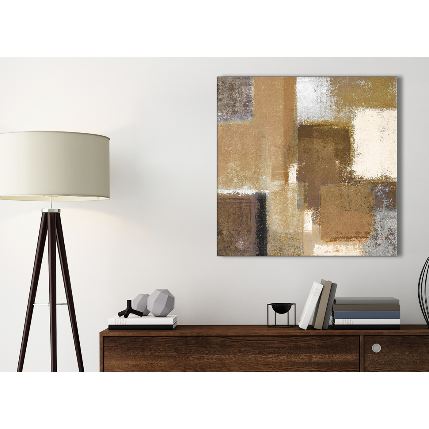 Beige Kitchen Accessories: Brown Cream Beige Painting Bathroom Canvas Wall Art
