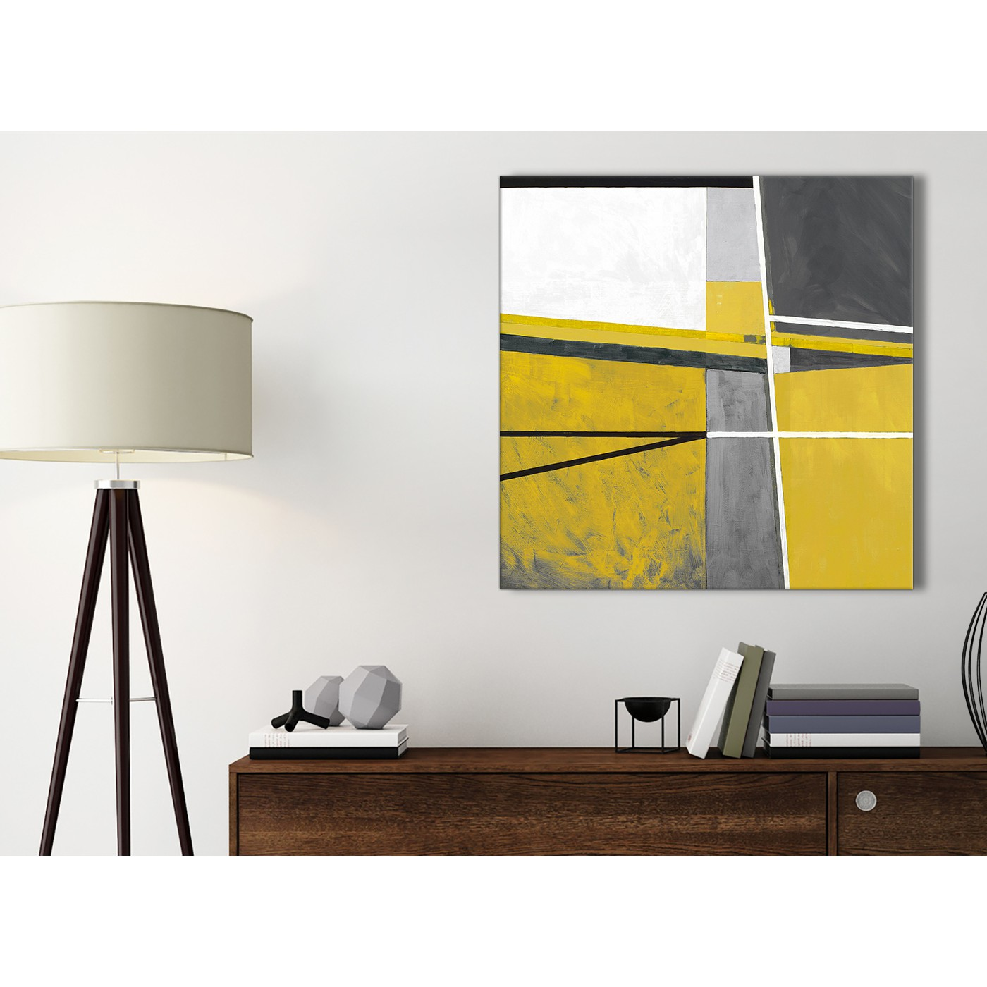 Mustard Kitchen Paint: Mustard Yellow Grey Painting Bathroom Canvas Pictures