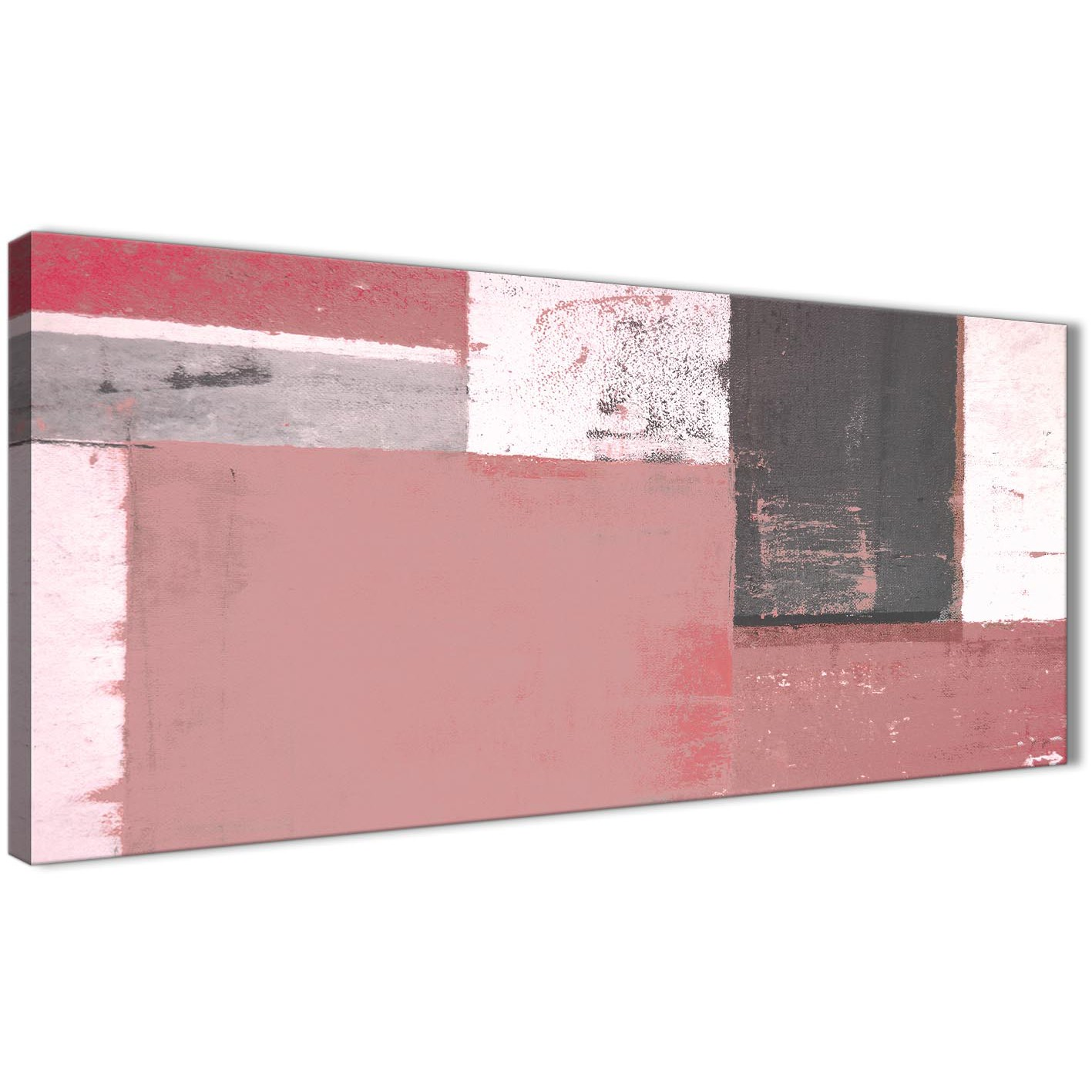Blush pink grey abstract painting canvas wall art print modern 120cm wide 1334