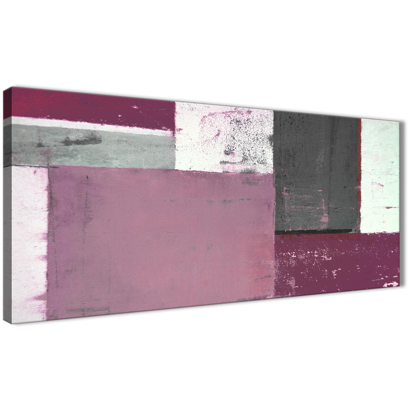 Plum Purple Grey Painting Kitchen Canvas Pictures: Plum Grey Abstract Painting Canvas Wall Art Picture