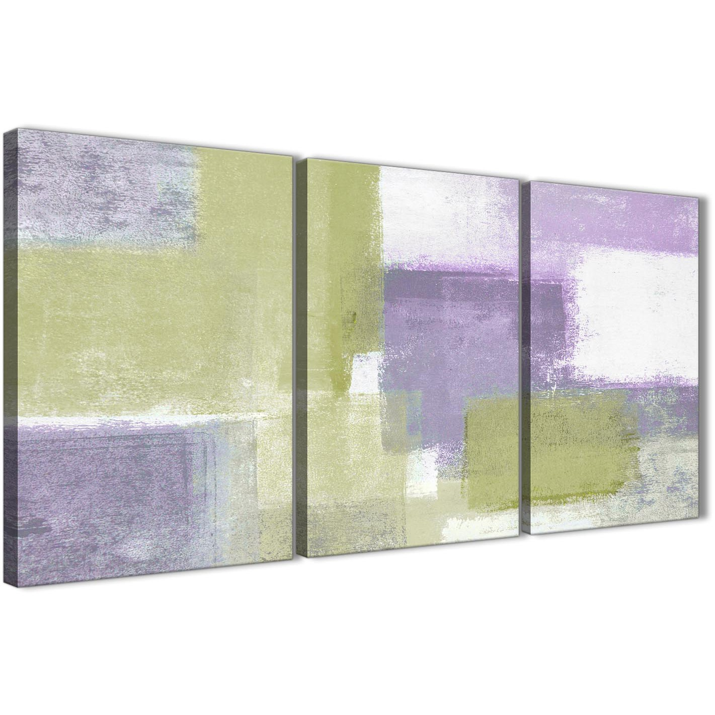 Items Similar To Teal Purple Abstract Flowers Wall Decor: Lime Green Purple Abstract Painting Canvas Wall Art Print