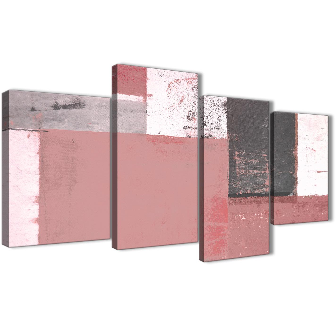 Large Blush Pink Grey Abstract Painting Canvas Wall Art