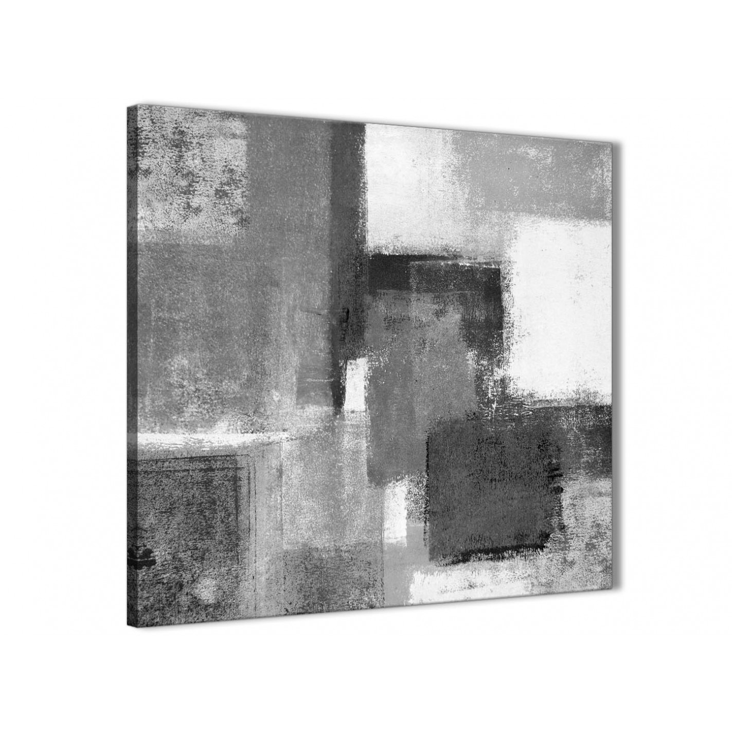 Cheap black white grey kitchen canvas wall art accessories abstract 1s368s 49cm square print display gallery item 1