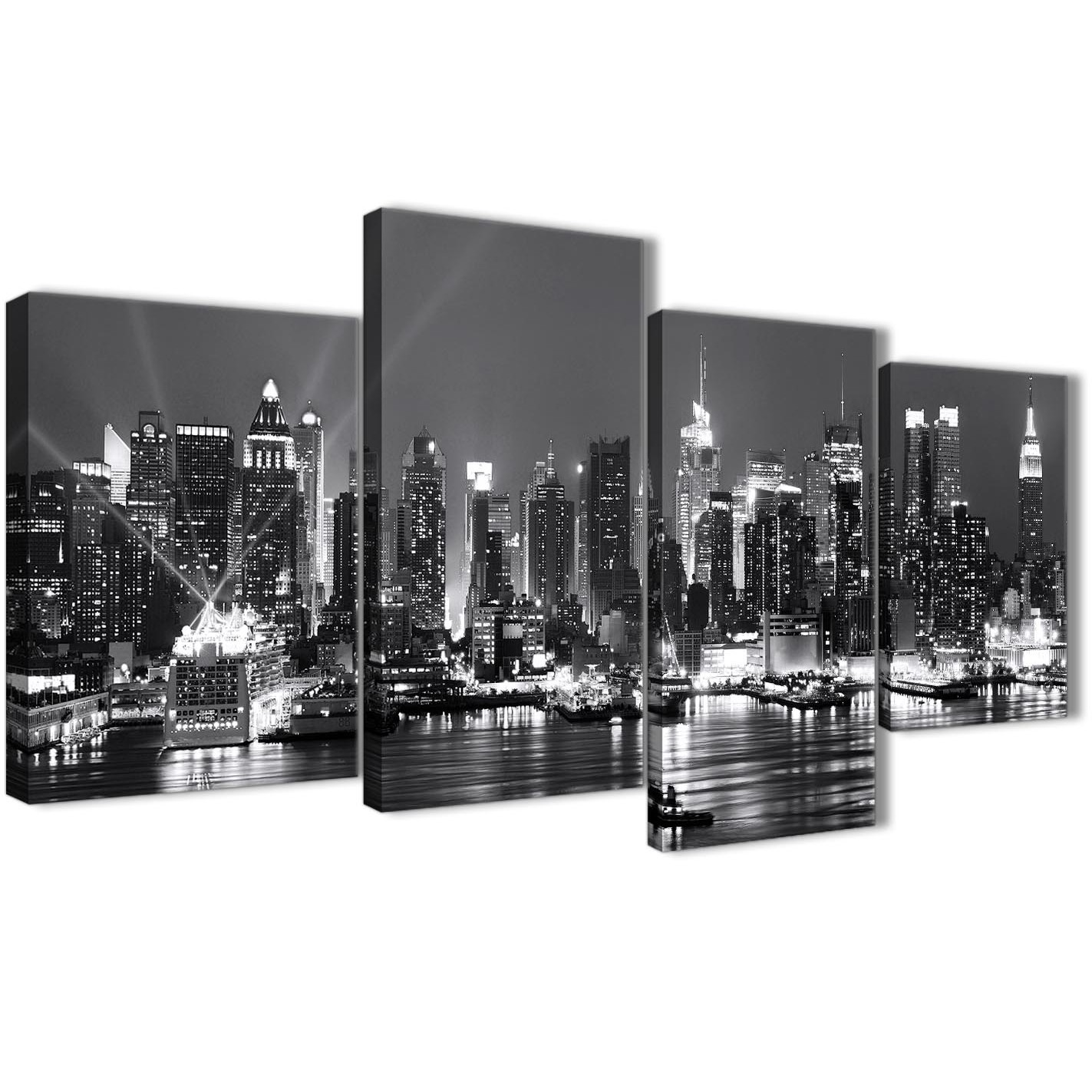 LARGE CANVAS ART PICTURE NEW YORK CITY SCENE ARTWORK