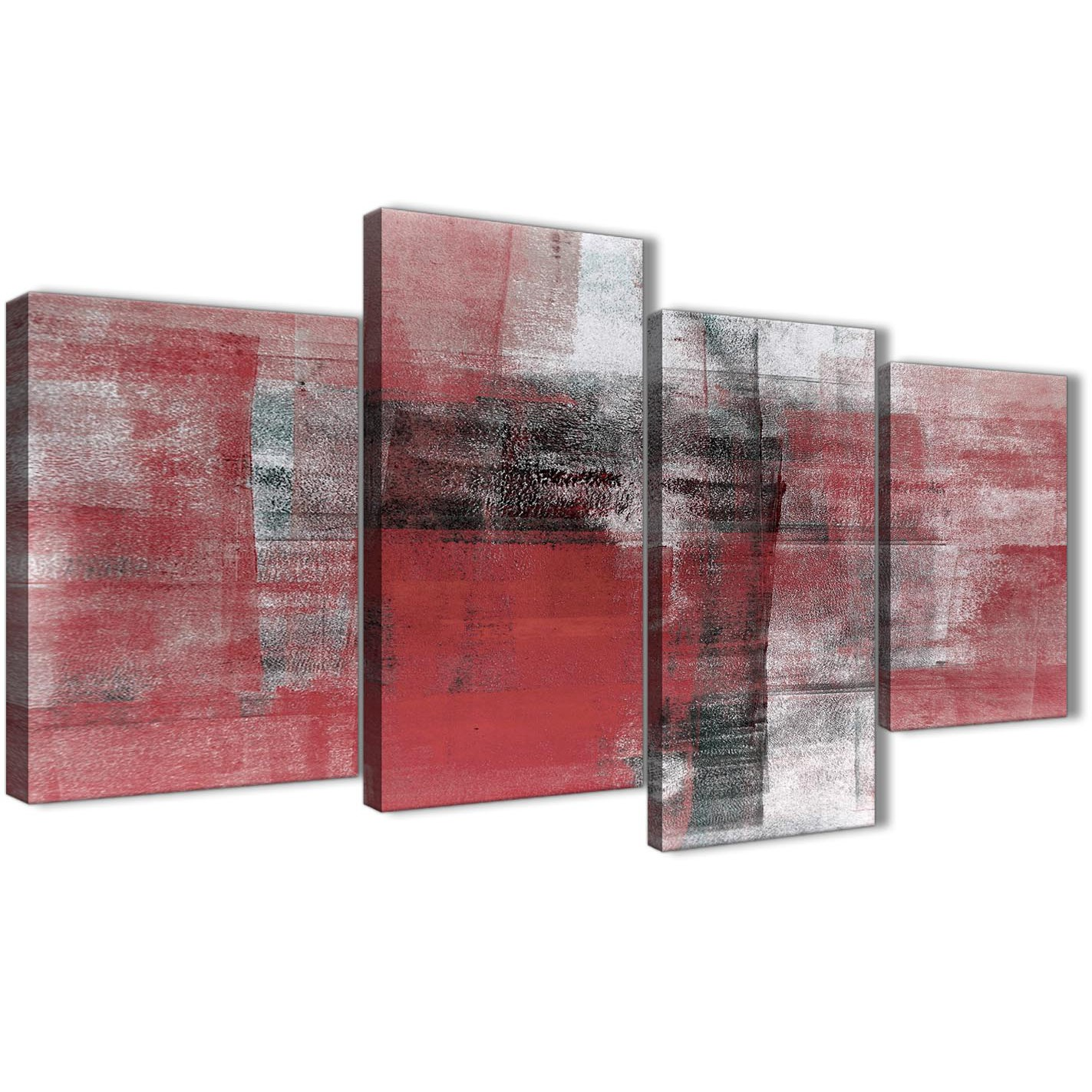 Large red black white painting abstract bedroom canvas pictures decor 4397 130cm set of prints