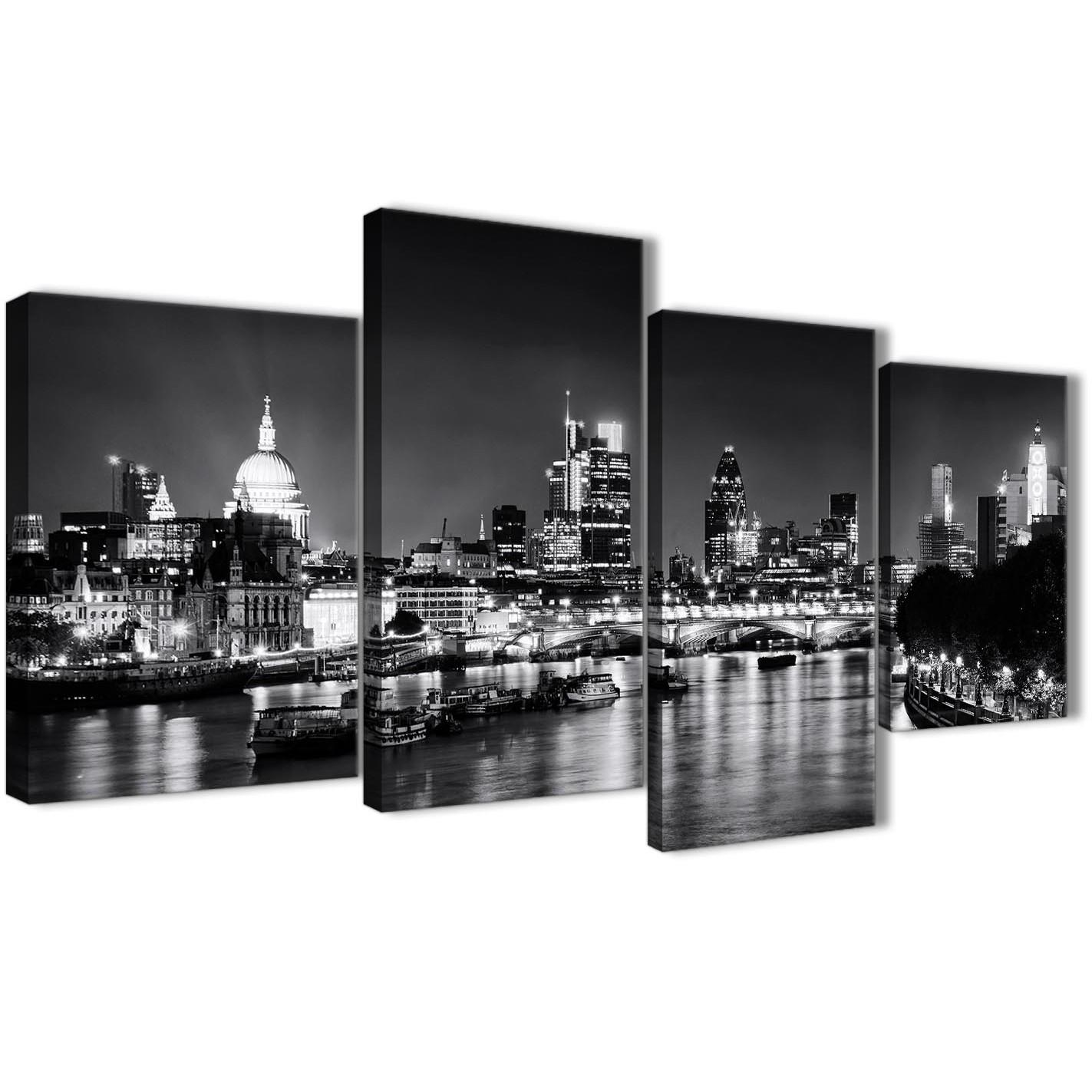 River thames london skyline canvas art pictures