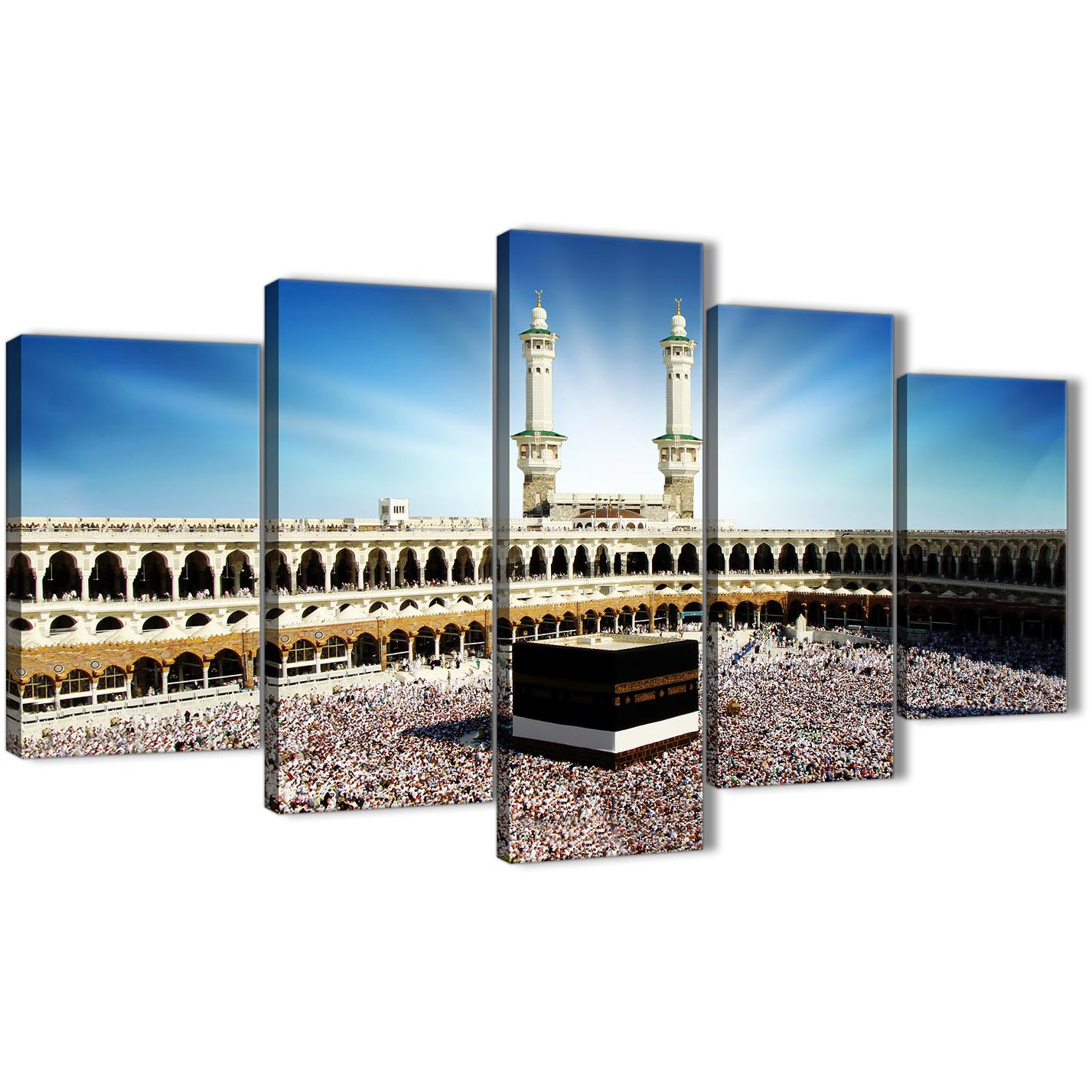 Oversized 5 Piece Canvas Wall Art Pictures - Islamic Canvas - Hajj Pilgrimage Kaaba - 5191 Display Gallery Item 1 ...  sc 1 st  Wallfillers & Hajj Pilgrimage Kaaba - 5 Piece Canvas Wall Art Pictures - Islamic ...