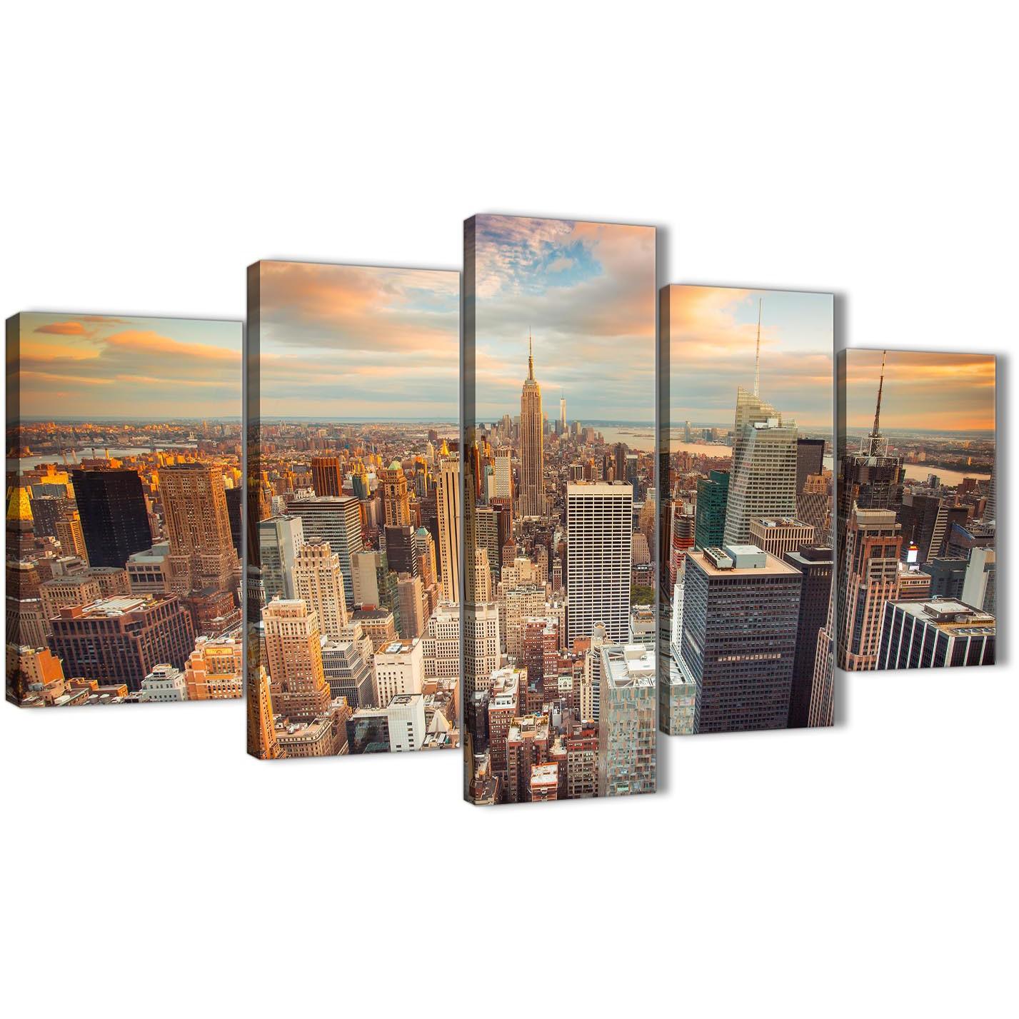 NYC Skyscraper Lunch Vintage SINGLE CANVAS WALL ART Picture Print VA