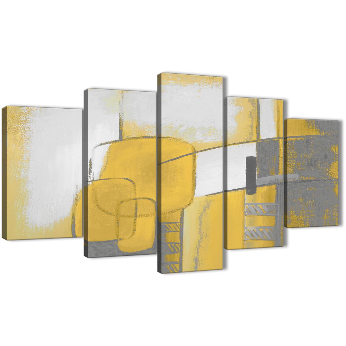 Grey And Yellow Living Room Set