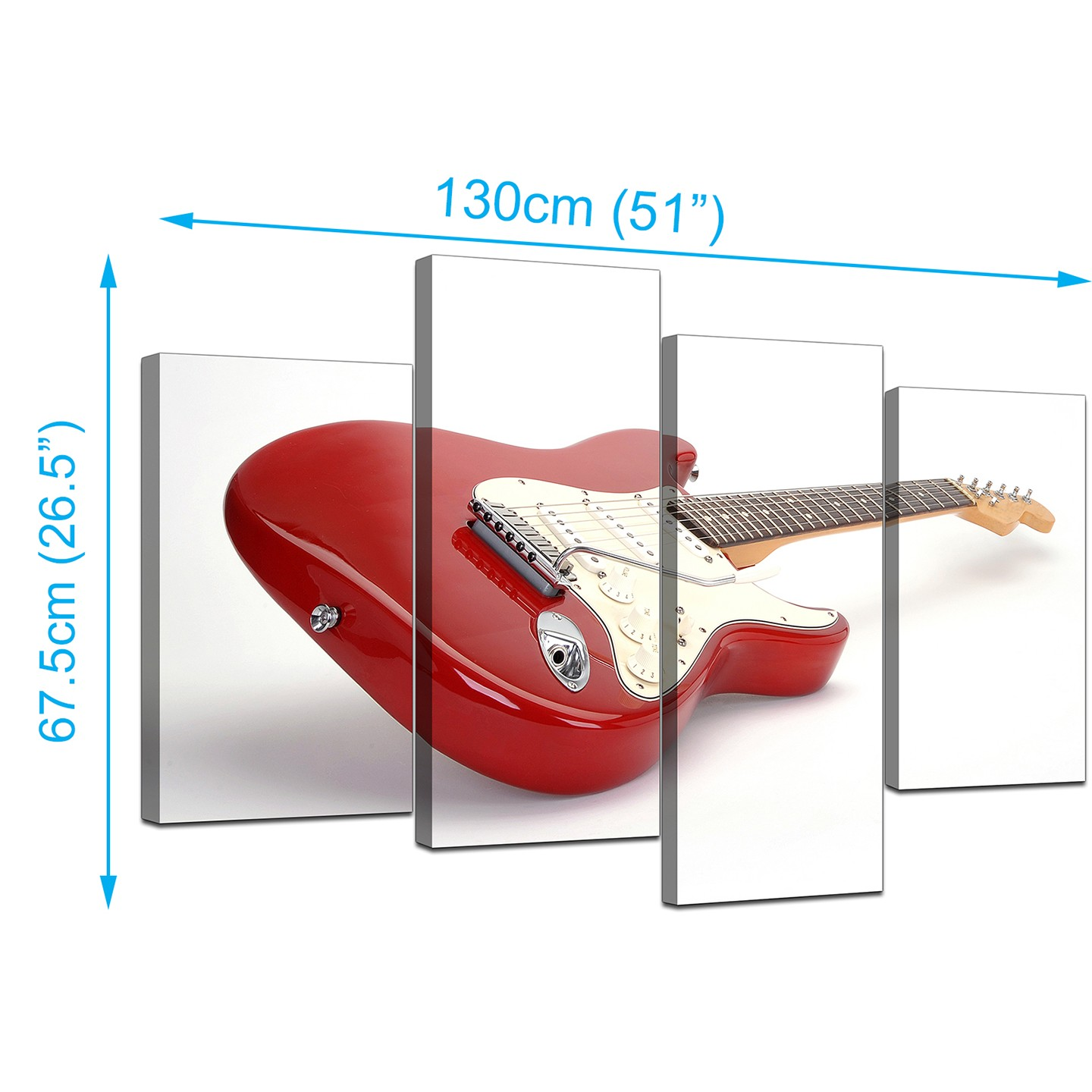 Electric Guitar Canvas Wall Art In Red For Bedroom Diagram Parts Of The Display Gallery Item 2 Set Four Modern Prints 3