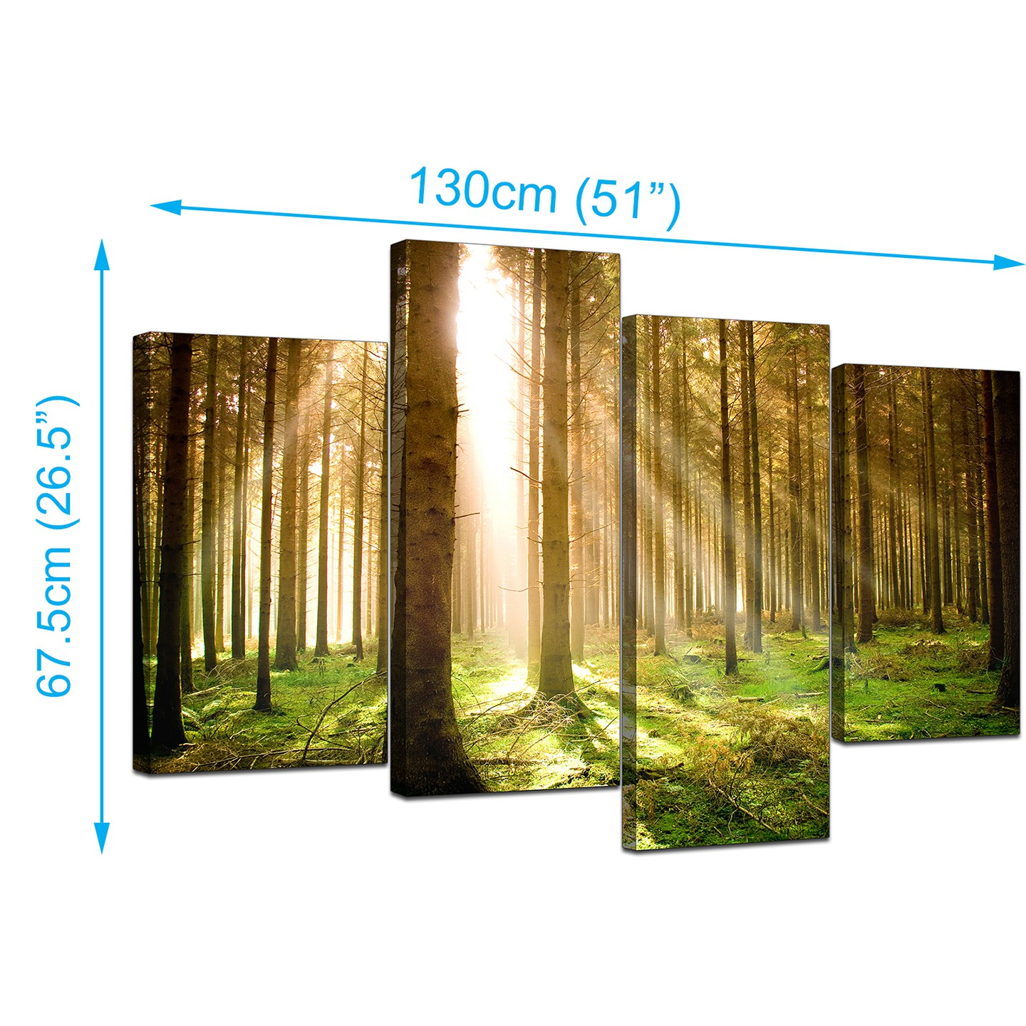 Canvas Art of Trees for your Bedroom - 4 Part