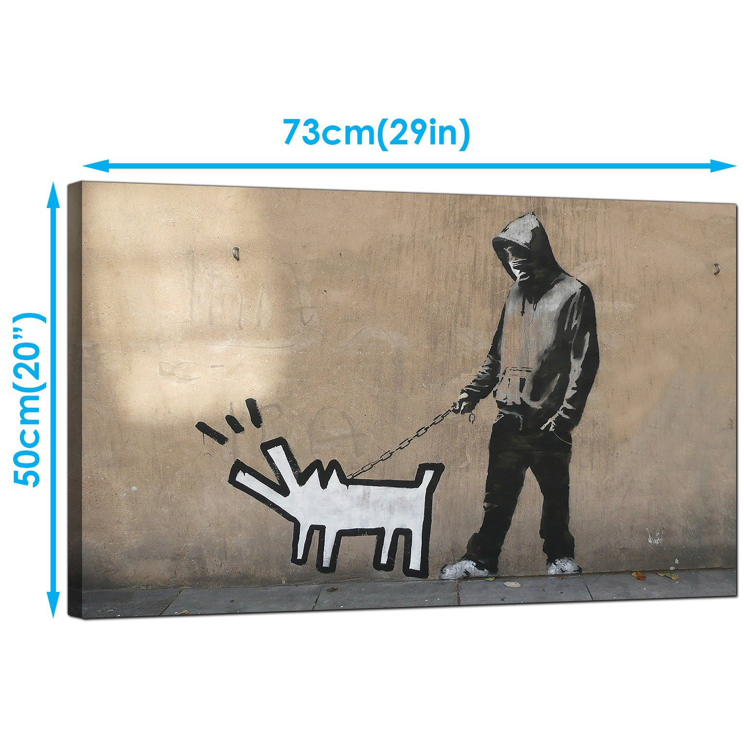 Display gallery item 3 · banksy canvas art prints choose your weapon man with keith haring dog graffiti art display gallery item 4
