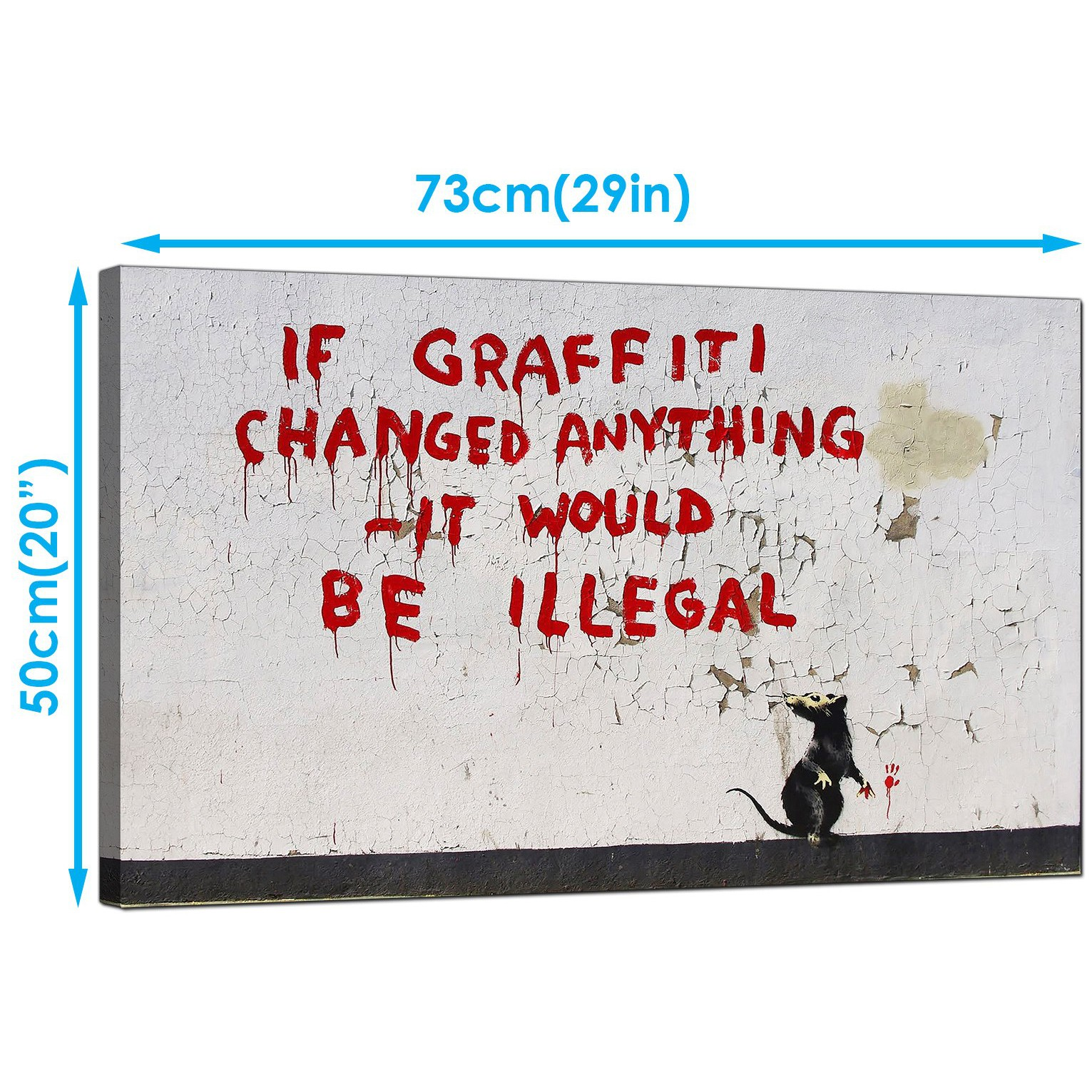 Display gallery item 2 · banksy canvas art prints graffiti rat if graffiti changed anything it would be illegal display gallery item 3