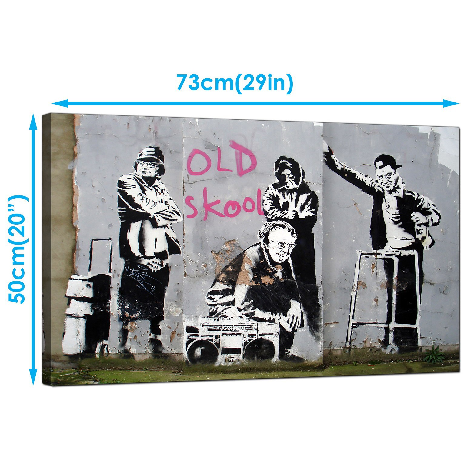 Display gallery item 3 · banksy canvas art prints old skool b boy grannies graffiti art display gallery item 4