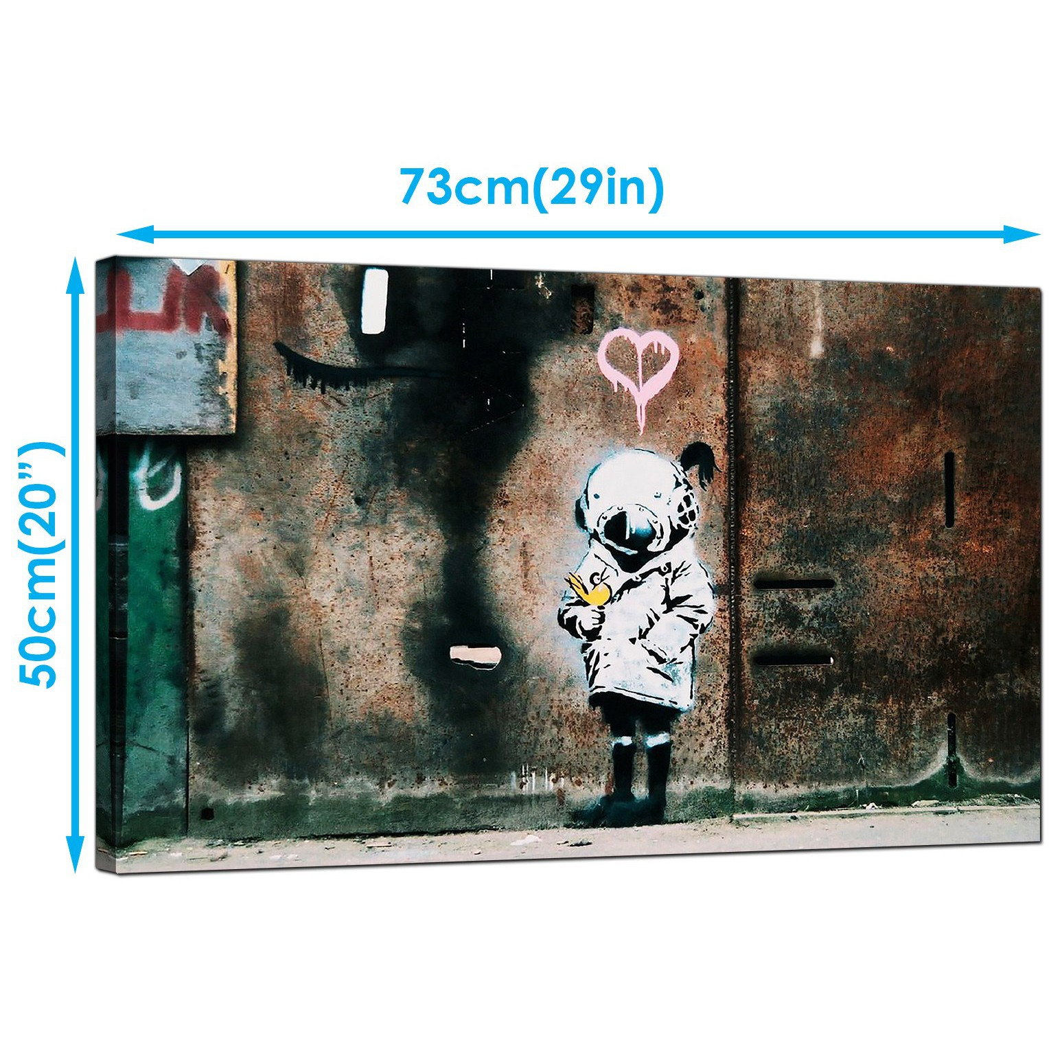 Display gallery item 3 · banksy canvas art prints space girl with bird graffiti art display gallery item 4