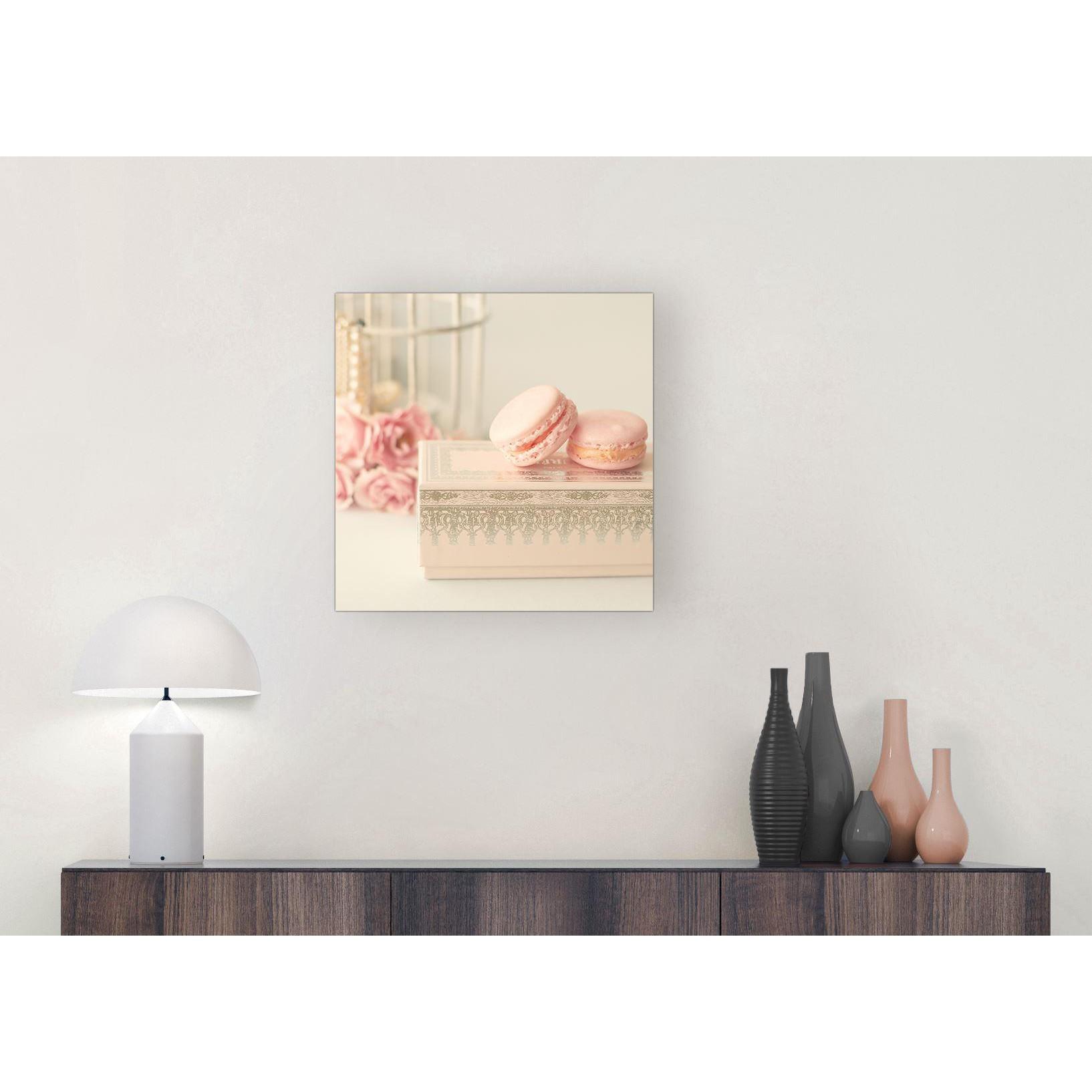 Modern Shabby Chic Bedroom: Pink Cream French Shabby Chic Bedroom Canvas Modern 49cm