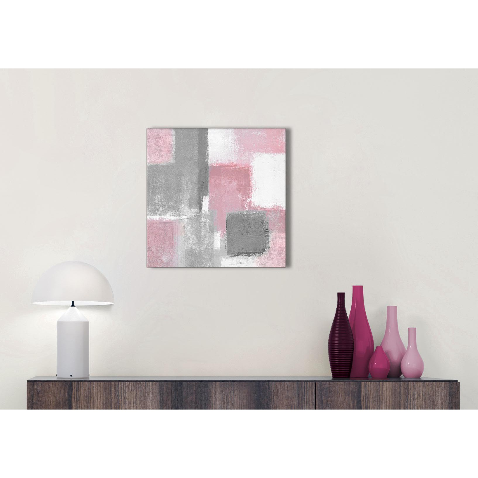 Blush Pink Grey Painting Kitchen Canvas Pictures Accessories ...