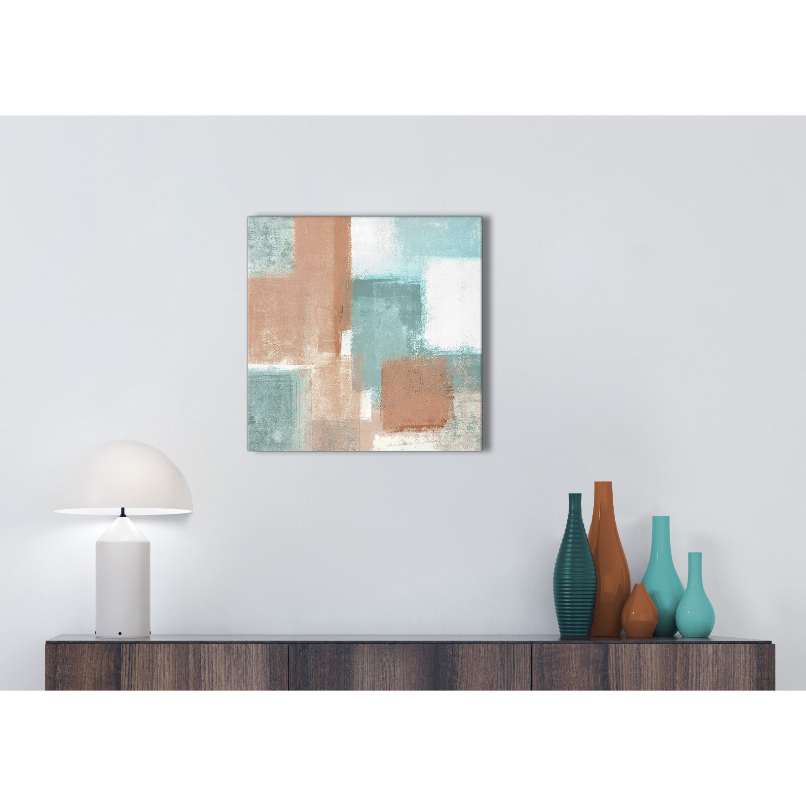 Coral Turquoise Kitchen Canvas Pictures Accessories - Abstract ...