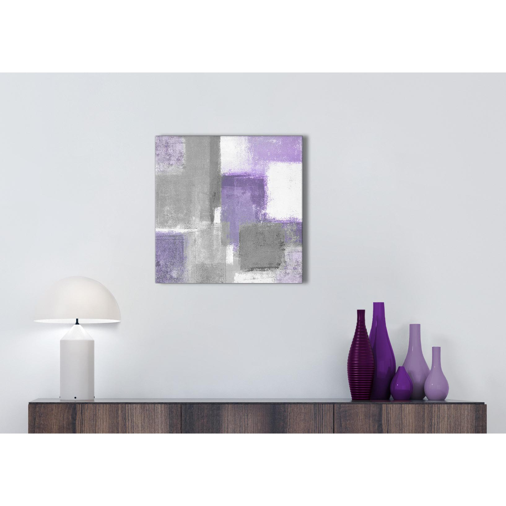 Purple Grey Painting Bathroom Canvas Wall Art Accessories - Abstract ...