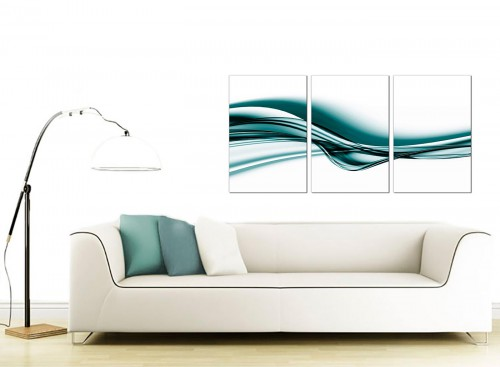 Set of 3 Abstract Canvas Prints 125cm x 60cm 3033