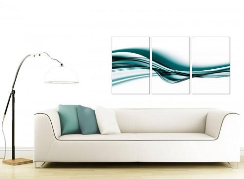 Set of 3 Abstract Canvas Prints 125cm x 60cm 3033