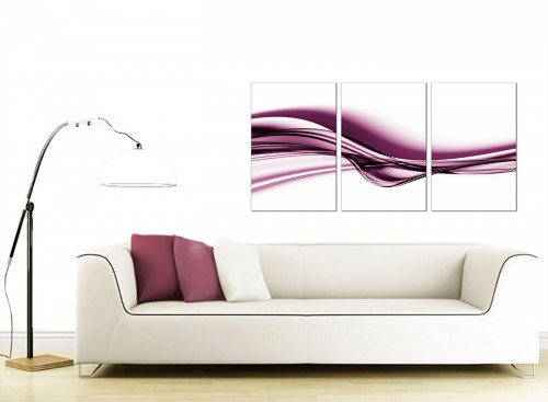 Set of 3 Abstract Canvas Art 125cm x 60cm 3032