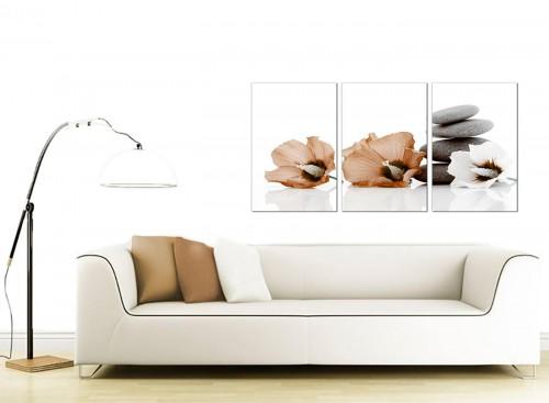Set of 3 Floral Canvas Pictures 125cm x 60cm 3073