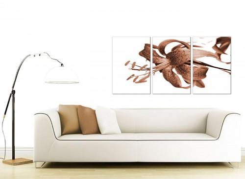 Set of 3 Flower Canvas Prints 125cm x 60cm 3055