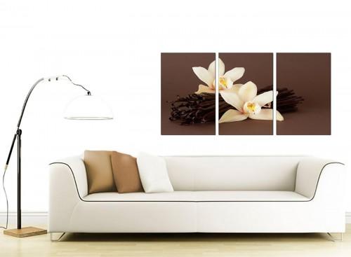 Set of 3 Flower Canvas Pictures 125cm x 60cm 3121