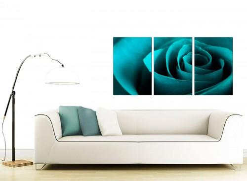 3 Panel Flower Canvas Art 125cm x 60cm 3109
