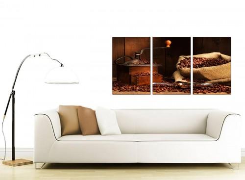 3 Panel Food & Drink Canvas Wall Art 125cm x 60cm 3062