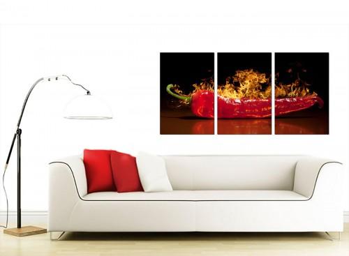 Set of 3 Food & Drink Canvas Prints UK 125cm x 60cm 3132