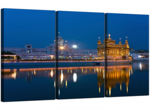 Sikh Golden Temple Amritsar - Blue Canvas