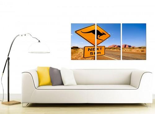 Three Part Landscape Canvas Prints 125cm x 60cm 3083