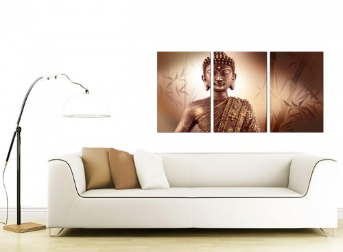 3 Panel Oriental Canvas Wall Art 125cm x 60cm 3101