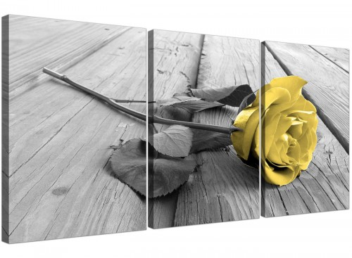 3 panel rose canvas pictures living room 3255