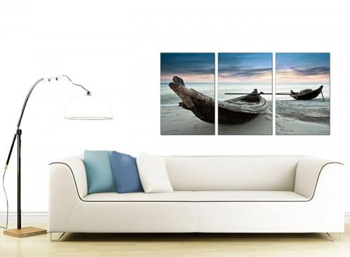 3 Panel Sea Canvas Prints 125cm x 60cm 3107