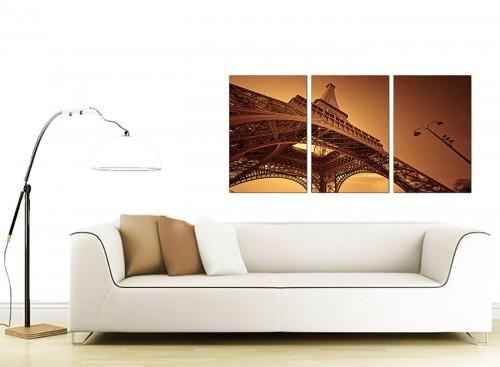 3 Panel City Canvas Wall Art 125cm x 60cm 3013