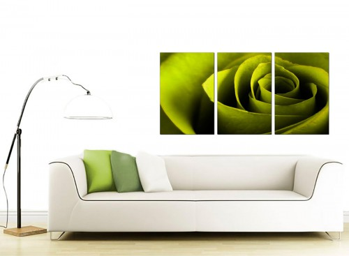 Set of 3 Floral Canvas Prints 125cm x 60cm 3110