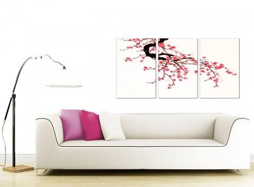 3 Panel Flower Canvas Art 125cm x 60cm 3081