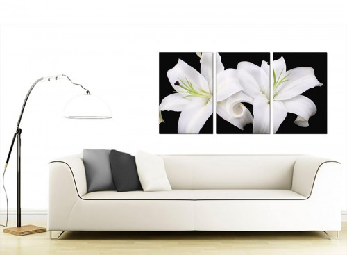 Three Part Flower Canvas Prints 125cm x 60cm 3128