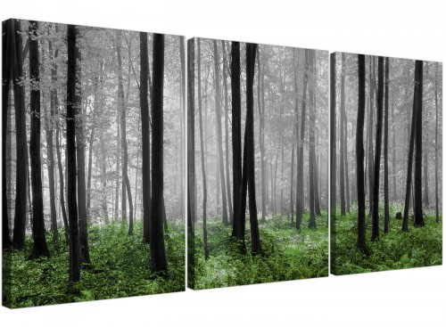 3 part forest woodland trees canvas wall art living room 3239