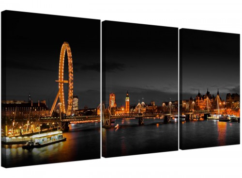 Set of 3 City Canvas Prints UK Big Ben 3186