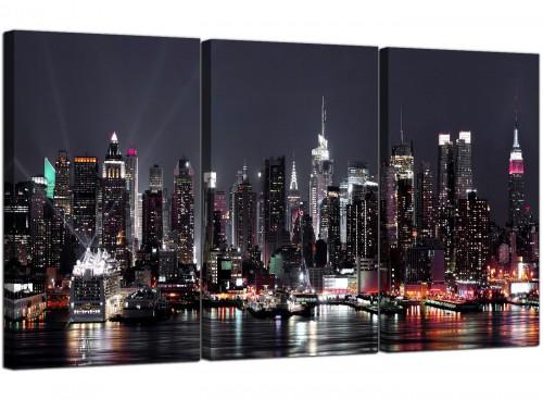 New York City Skyline - Black White Cityscape Canvas