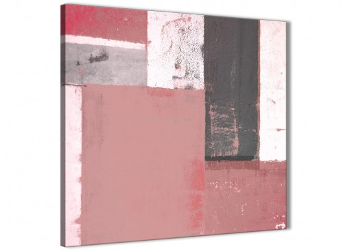 Modern Blush Pink Abstract Painting Wall Art Print Canvas Modern 79cm Square 1S334L For Your Girls Bedroom
