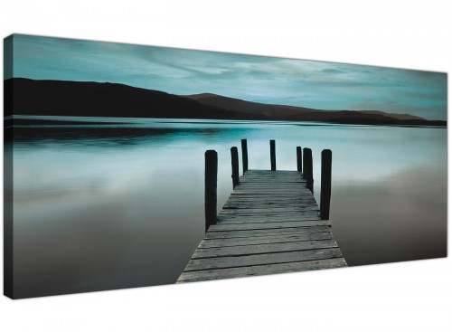 Teal Coloured Canvas Wall Art