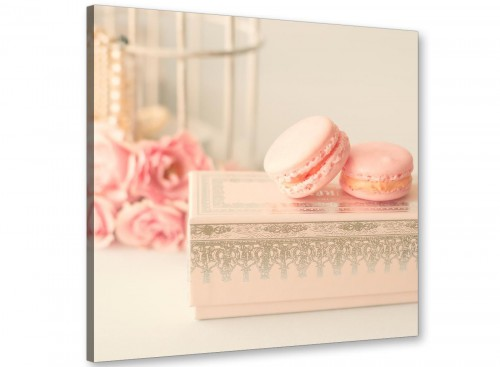 cheap pink cream french shabby chic bedroom abstract canvas modern 49cm square 1s284s for your girls bedroom