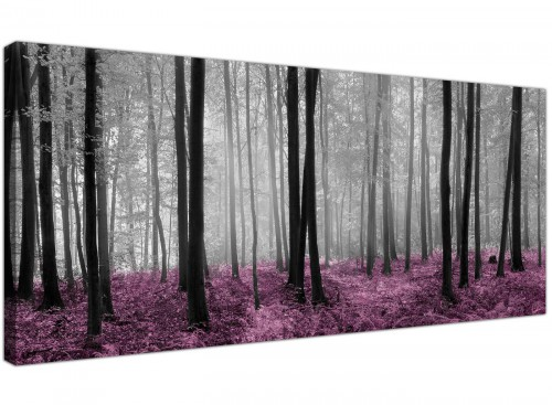 Plum Black White Woodlands